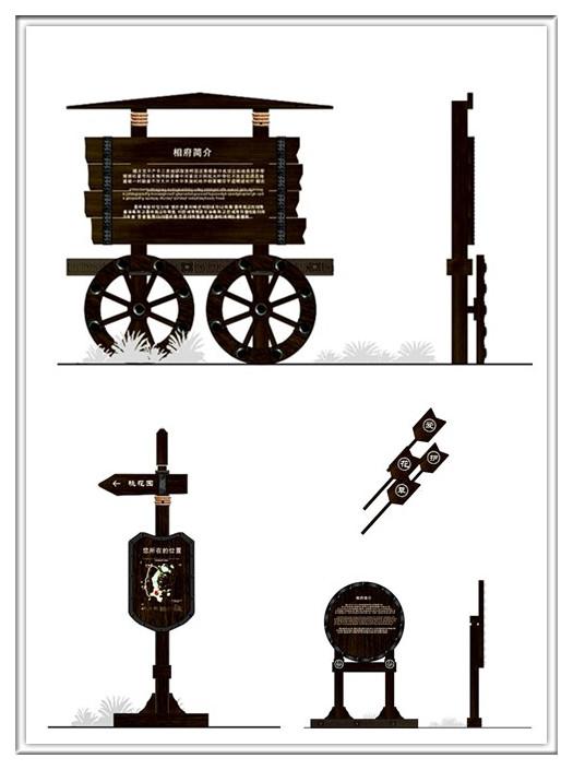 关山古镇景区标识系统设计图