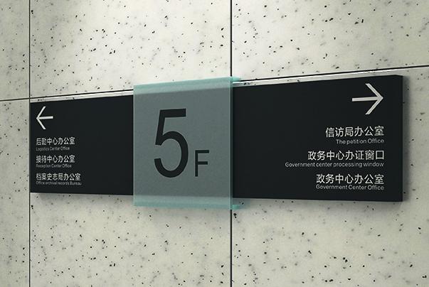 辦公樓貼墻指示牌