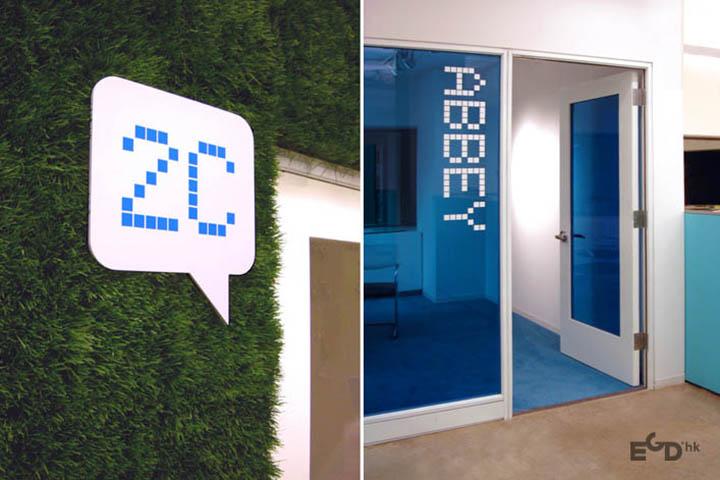 纽约jwt办公空间环境导视系统设计图片