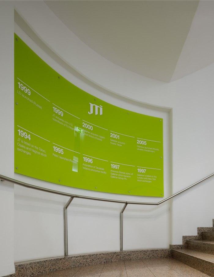 日本烟草国际公司塔巴克总部-导视系统设计