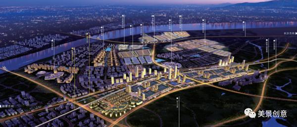 美景案例赏析 | 中国(中部)岳塘国际商贸城导向万博体育manbetx官网规划设计
